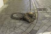 Bronze Sewer Worker — Stock Photo