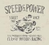 古典的なオートバイのレース — ストックベクタ