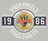 Speed wheels racing team — Wektor stockowy