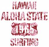 Aloha State surfing. — Stock Vector
