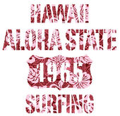 Aloha State surfing. — Cтоковый вектор