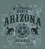 Arizona wild horse  rodeo — Vector de stock