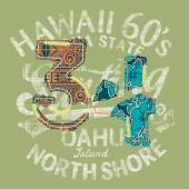 Hawaii surfing — Stockvector