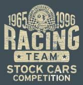 Stock car racing team — Wektor stockowy