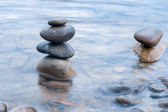 Stenen en water — Stockfoto