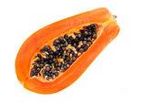 папайя, изолированные на белом фоне — Стоковое фото