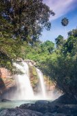 Waterfall in rain forest jungle — Stock Photo