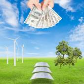 Carbon credits concept — Stock Photo