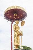Sculpture of Kruba Srivijaya in thailand temple  — Stock Photo