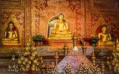 """Phra Sihing Buddha"" ancient gold statue — Stock Photo"