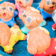 Funny dog doll made from baked clay — Stock Photo #51952869