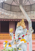 Closeup ganesh silver sculpture in the temple Chiang Mai, Thaila — Stock Photo