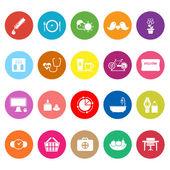 Health behavior flat icons on white background — Stock Vector