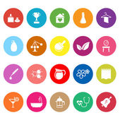 Spa treatment flat icons on white background — Stock Vector