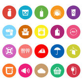 Laundry flat icons on white background — Vector de stock
