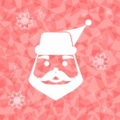 Santa claus on dazzled triangle background — Stock Vector
