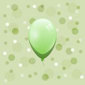 Green balloon on bokeh background — Stock Vector