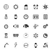 Design time and direction line icons on white background — Vecteur