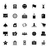 Business start up icons on white background — Vetor de Stock