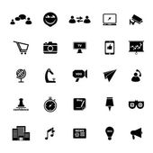 Media marketing icons on white background — Stock Vector