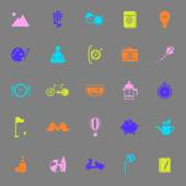 Slow life activity color icons on gray background — Wektor stockowy
