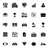 Asset and property icons on white background — Stock Vector