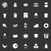 Easy meal icons on gray background — Stock Vector