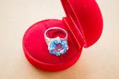 Beautiful gem stone classic jewellery ring — Stock Photo