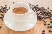 Perfect shot of hot espresso — Stock Photo