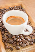 Perfect shot of hot espresso — Stockfoto