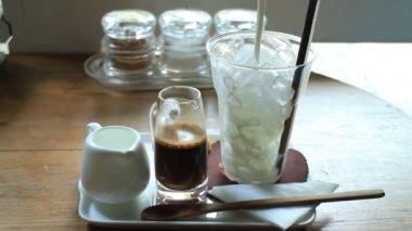 Self Experience Ice Milk Mocha, Stock Video — Stockvideo