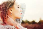 Portrait of  Tenderness Young Beautiful Woman — Stock Photo