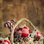 Composition de Noël avec des cadeaux Vintage. Espace copie — Photo #58563455