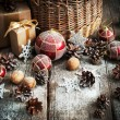 Natural Christmas Gifts in Country style — Stock Photo #58563557