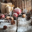Christmas Gifts with Red Balls — Стоковое фото #58563649