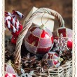 Stylization by Vintage Card with Retro Frame. Christmas Gifts — Stock Photo #58758523