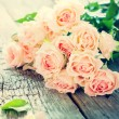 Bouquet of Tender Pink Roses, toned instagram effect — Stock Photo #62944781