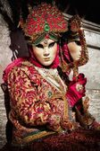 Máscara de carnaval de venecia — Foto de Stock