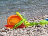 Toys on the sea — Stock Photo