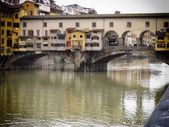 Starý most florencie — Stock fotografie