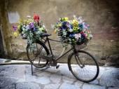 Floreal bicycle — ストック写真