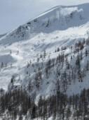 Vista para a montanha — Fotografia Stock