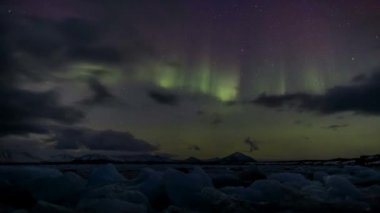 Northern Lights show - Arctic, Spitsbergen — Wideo stockowe
