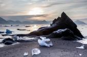 Arctic fjord landscape — Stock Photo