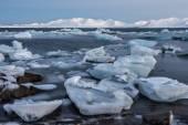 Glacier ice in the fjord - Arctic landscape — Stock Photo