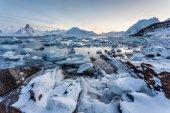 Spitsbergen, Svalbard - Arctic winter landscape — Stock Photo