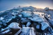 Unusual Arctic ice landscape - Spitsbergen — Stock Photo
