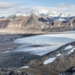 Arctic summer landscape - mountains, fjord, glaciers - Spitsbergen, Svalbard — Stock Photo #58707499