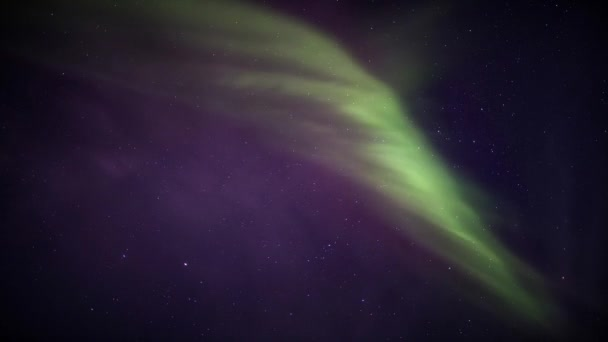 Beautiful Northern Lights on the Arctic sky — Vídeo de stock