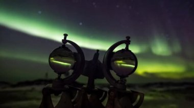 Heliograph (meteorological instrument) and Northern Lights — Stock Video